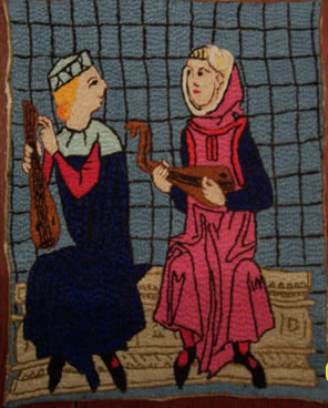 Christians playing viol-like instruments